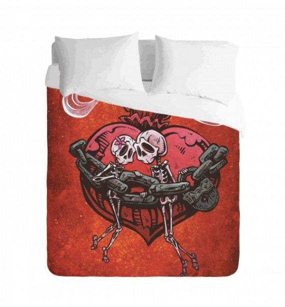 Skulls Chained to You Duvet Cover Set