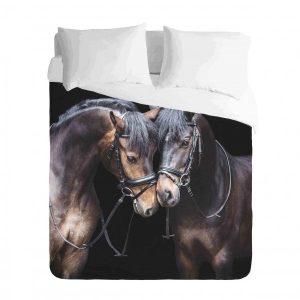 Pair of Saddlebred Horses Duvet Cover Set