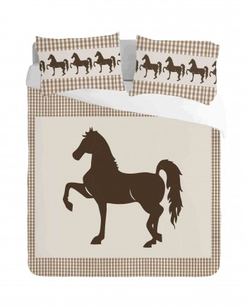 Saddlebred Horse Duvet Cover Set
