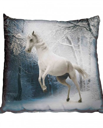 White Horse in Snow Scatter