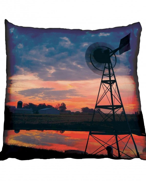 Windmill and Red African Sky Scatter