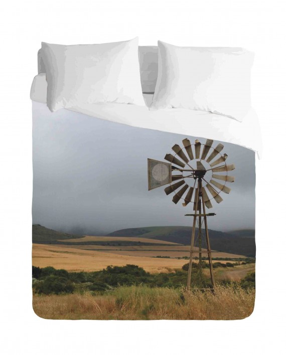 Windmill and Rolling Hills Duvet Cover Set