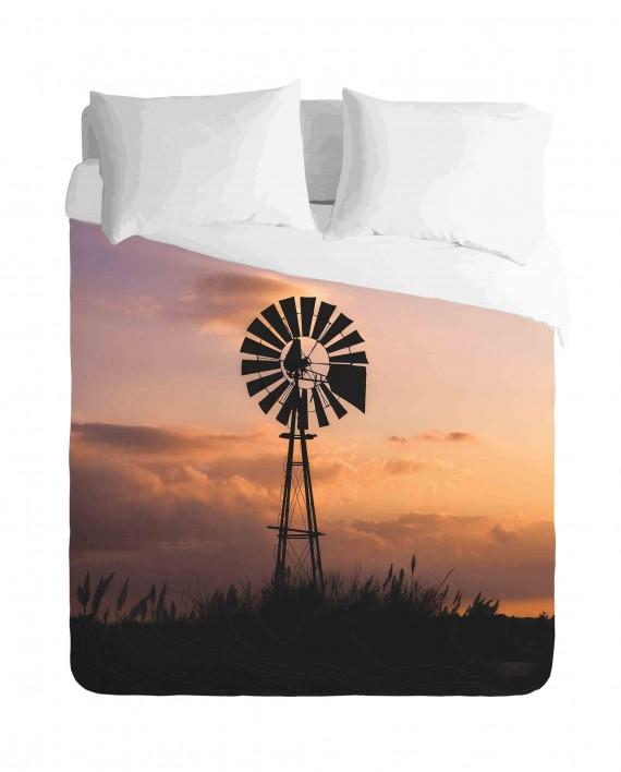 Windmill in the African Veld Duvet Cover Set