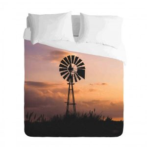 Windmill in the African Veld Duvet Cover Set