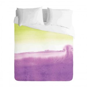 Ombre Purple and Yellow watercolour Duvet