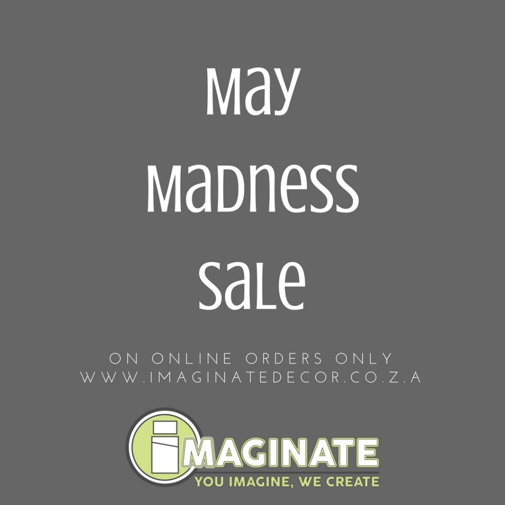 May Madness Sale on Selected Designs